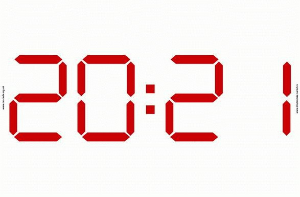 Заставка Электронные Часы