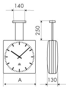 Двухсторонние часы с монтажным комплектом DS